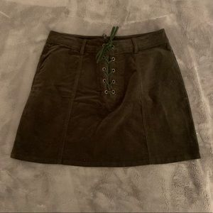 Forever 21 dark army green skirt